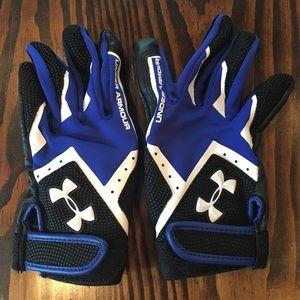 Boys XS Under Armour Batting gloves